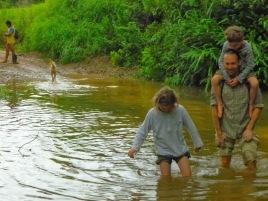 Crossing the River Cumbaza